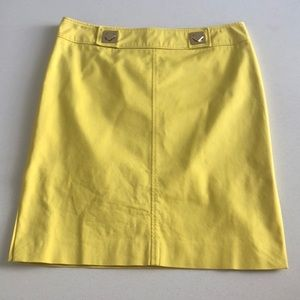 Classic Vintage Versace Lemon Yellow Pencil Skirt